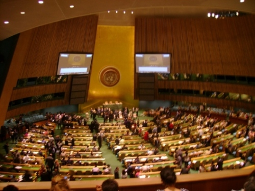 UN GA Hall, looking down from 4th balcony